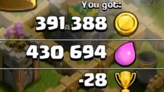 Clash Of Clans - Stealing 822k resources!!