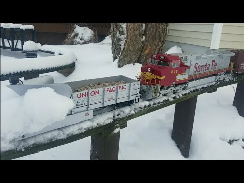 G Scale Trains Snow Plow