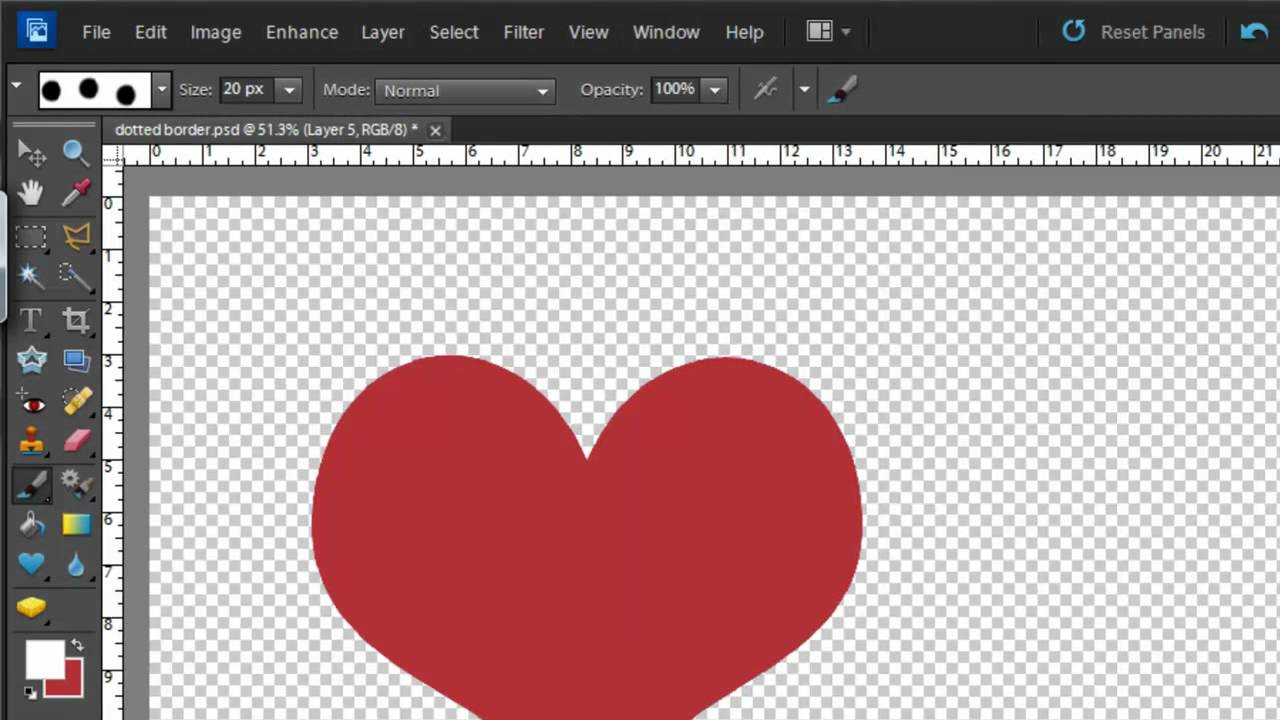 how to make a dotted border in photoshop cs6
