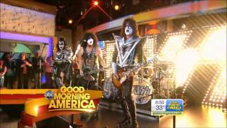 Kiss - Hell Or Hallelujah,Rock Roll All Night - Good Morning America  10-11-12.mp4