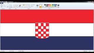 World Cup Flags: How to draw the Croatian flag in paint