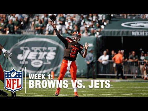 Johnny Manziel's First NFL Touchdown Pass | Browns vs. Jets | NFL