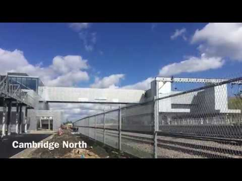 Cambridge North railway station opening 21 May 2017