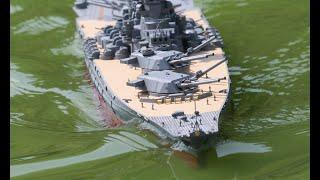 ラジコン 主砲可動 戦艦大和を作ってみた。I tried to make Yamato, a movable battleship Yamato.