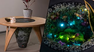 🤯Coffee Table with Leviathan from Subnautica [Below Zero/Diorama/Resin art/Sculpture]
