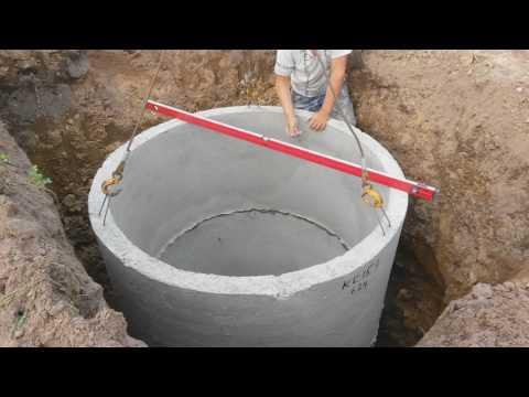 Установка колец канализации кран-бортом Камаз 4308