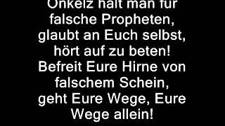 Böhse Onkelz- Falsche Propheten