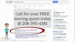 Moving Quotes Boise | Affordable Rates 208-595-4381 | Boise Movers