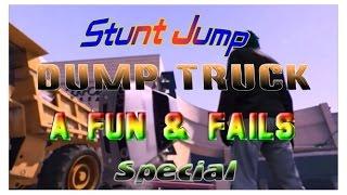 GTA5 Fun and Fails Special - Stunt Jump,Dump Truck Challenge -