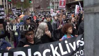 USA: 'Black Lives Matter, Not Black Friday' - BLM protest Black Friday in Seattle