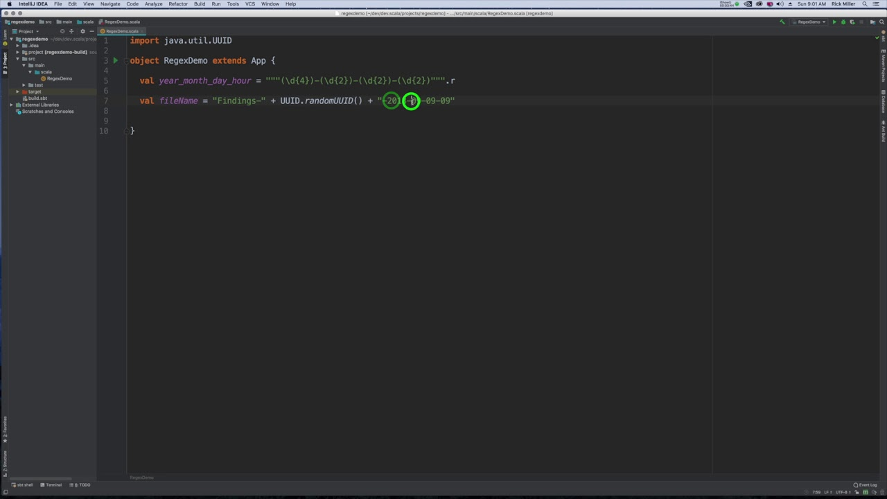 Scala Regex: Extracting Substring
