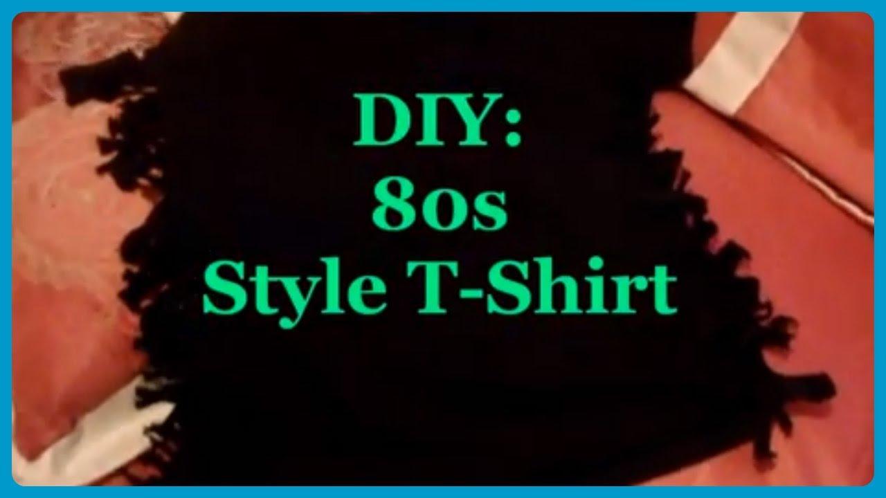 Diy 80s style t shirt youtube solutioingenieria Images