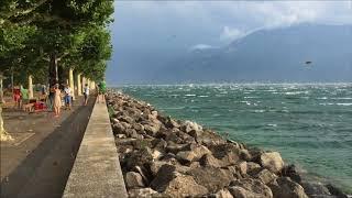 Midsummer storm, lac Leman, Switzerland