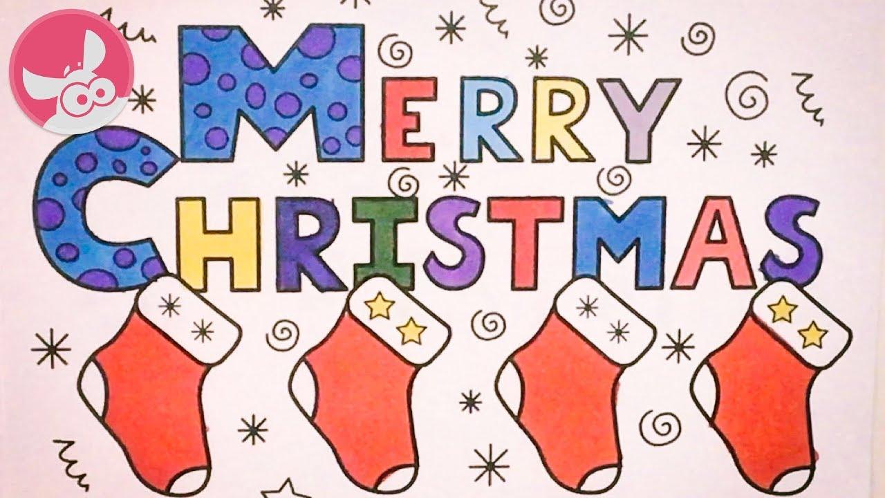 Kleurplaten Kerst Liedjes.Merry Christmas Vrolijk Kerstfeest Kinderliedjes Kleurplaat Kerstliedjes Kerstmis