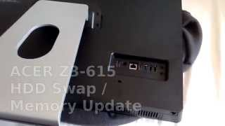 howTo: ACER Z3-615 Hard Disk (HDD/SSD Swap) Memory Upgrade