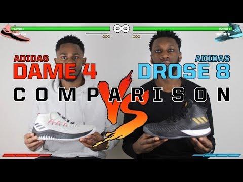 be05b3cb59e ADIDAS DAME 4 vs DROSE 8 COMPARISON - YouTube