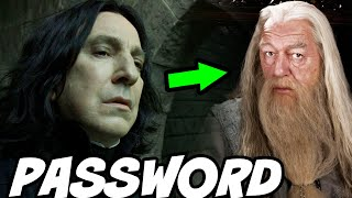 Why Snape's Office Password Was 'dumbledore' - Harry Potter Theory