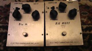 "EHX ""Triangle"" Big Muff vs EHX ""Triangle"" Big Muff"