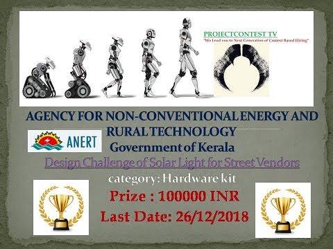 Design Challenge of Solar Light for Street Vendors- ANERT, Kerala