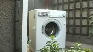 кирпич стиральной машине видео