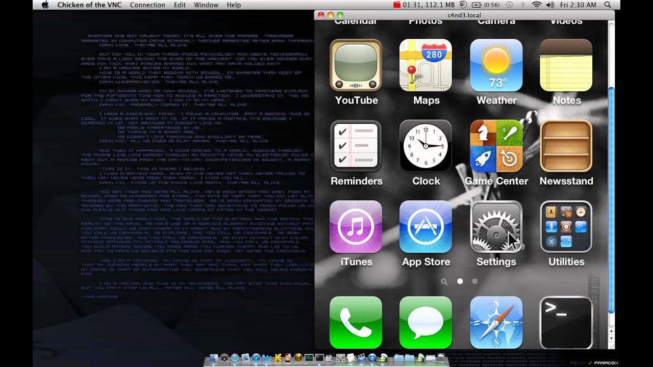 veency iphone vnc server