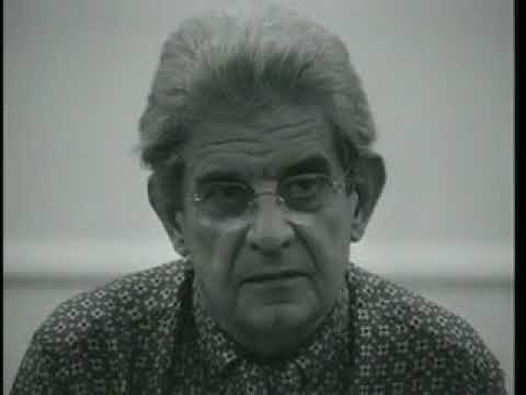 Jacques Lacan giving a lecture at The Catholic University of Louvain in 1972.