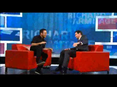 Shy Richard Armitage reacts to sexual implications
