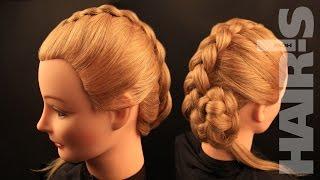 Плетение обратной французской косы – видеоурок (мастер-класс)