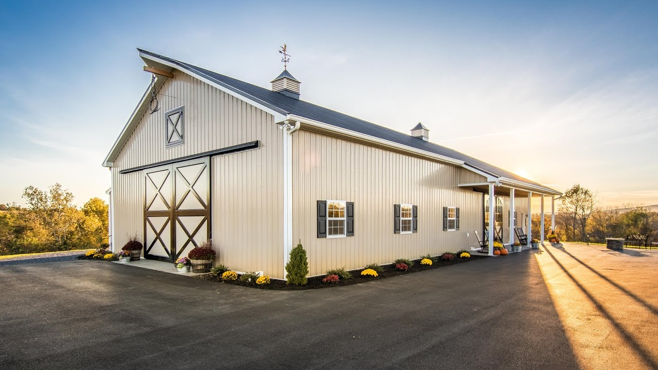 Country Barn With Black Metal Roof A B Martin 4k