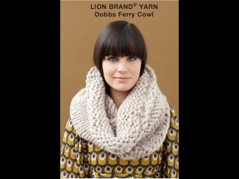 KNITTING TUTORIAL - THICK COWL - YouTube