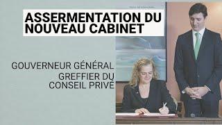 Assermentation du nouveau cabinet