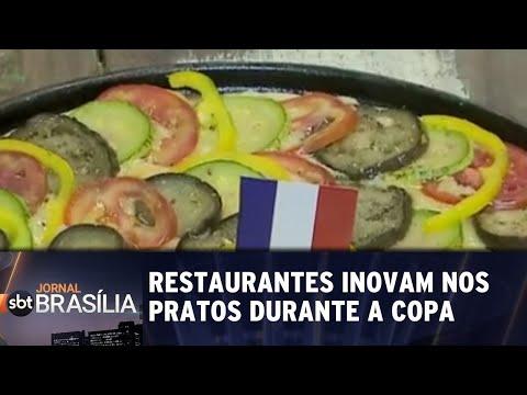 Restaurantes inovam nos pratos durante a copa   Jornal SBT Brasília 25/06/2018