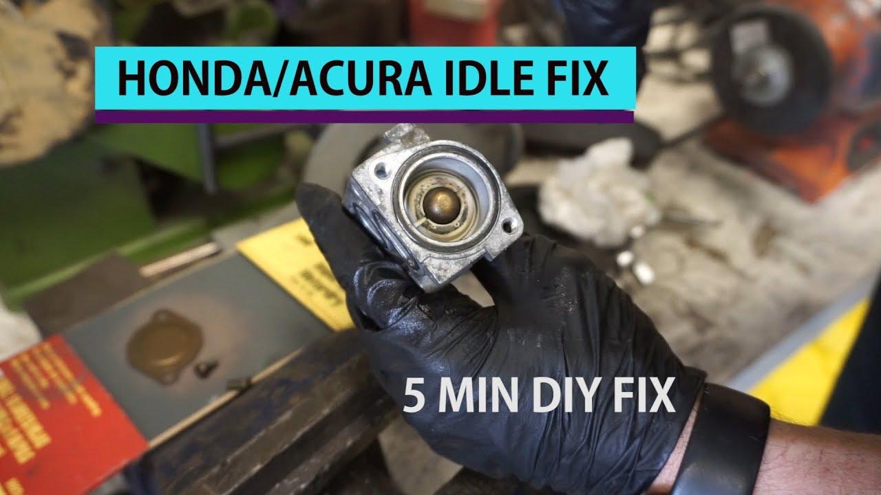 diy honda acura idle surge fix high idle (not idle controll valve)