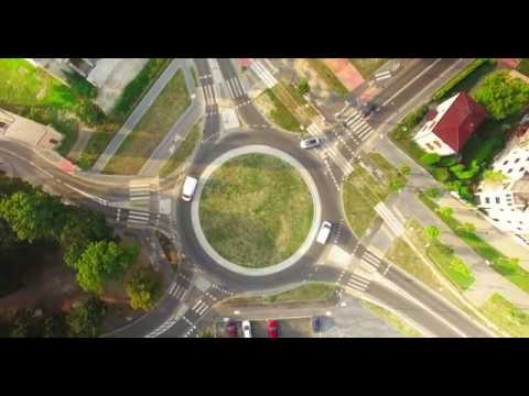 Ozorków - Nowe rondo z wysokości 100m