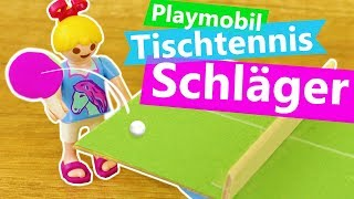 Playmobil DIY Tischtennis Schläger für Hannah Vogel | Super einfaches Tischtennis Spiel Basteln