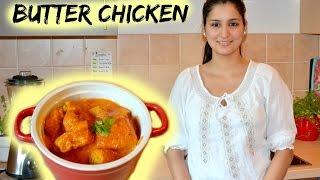 Butter Chicken Rezept - Hänchenbrustfilet in leckerer Butter-Tomaten-Sahne-Soße - indisch Kochen