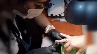 Как делается обрезной маникюр Где сделать маникюр Тамара Федорчук Семейная парикмахерская Бровары