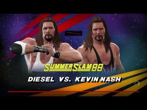 WWE 2K17 Diesel VS Kevin Nash