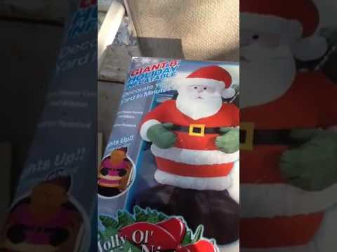 Yard sale find air flows inflatable Santa RARE!