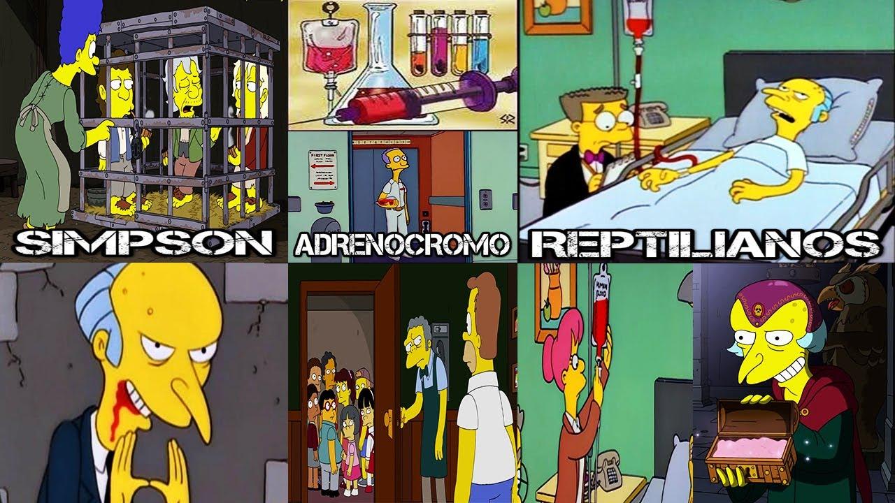 LOS SIMPSON ADENOCROMO Y REPTILIANOS