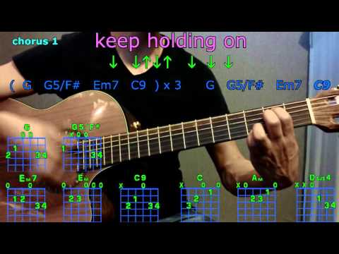 Keep holding on avril lavigne guitar chord