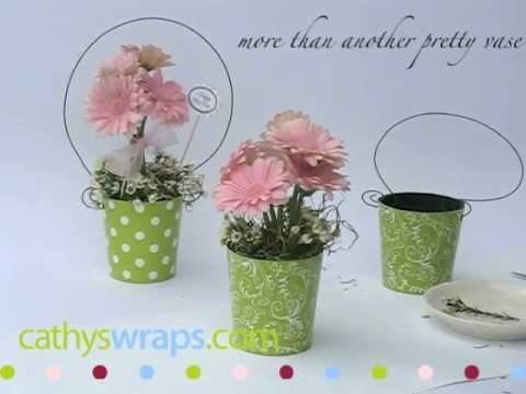 How To Make Adorable Flower Arrangements For Baby Showers U0026 DIY Weddings.  By Cathyswraps.mov