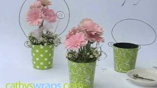 How To Make Adorable Flower Arrangements For Baby Showers & Diy Weddings. By Cathyswraps.mov