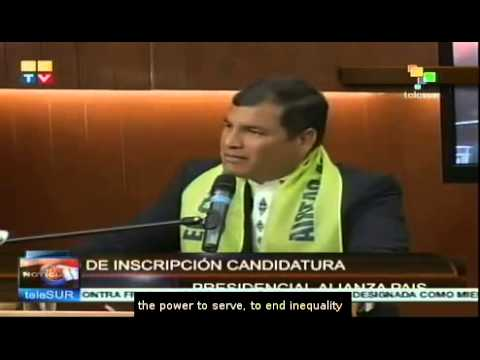 Ecuador's Rafael Correa to seek re-election