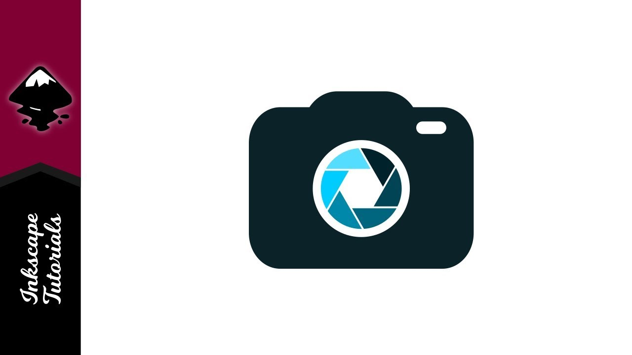 inkscape tutorial flat camera icon graphic lens logo
