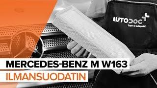 Kuinka vaihtaa ilmansuodatin MERCEDES-BENZ M W163 -merkkiseen autoon OHJEVIDEO   AUTODOC