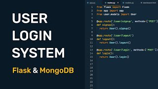 Build a User Login System with Flask and MongoDB - Part 1