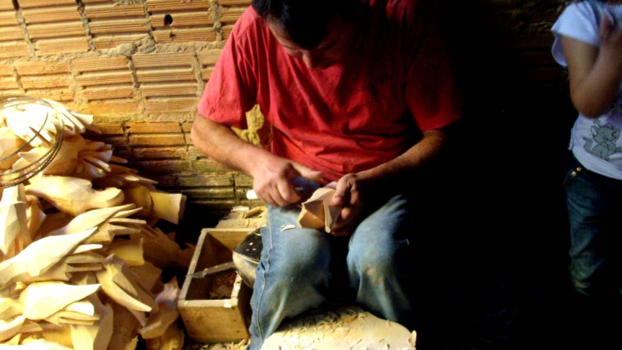 Artesanato Com Tecido De Guarda Chuva ~ Artesanato de Silveiras corte de madeira YouTube