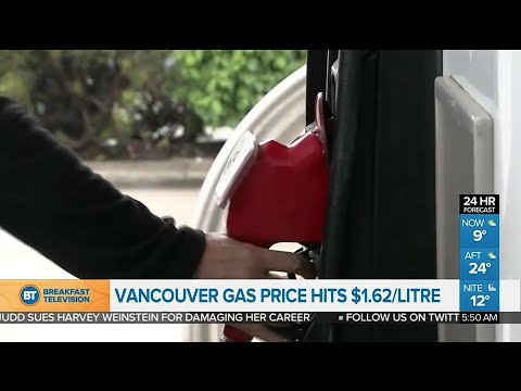 Vancouver has the highest gas price in North America