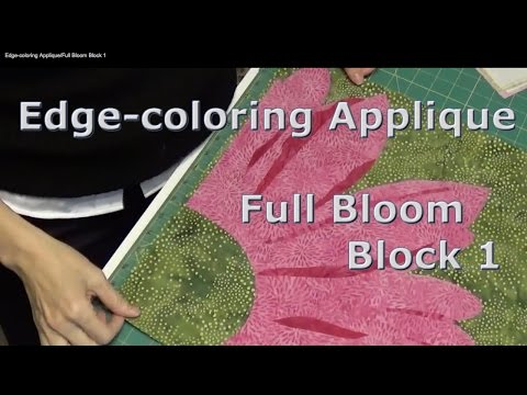Edge-coloring Applique/Full Bloom Block 1